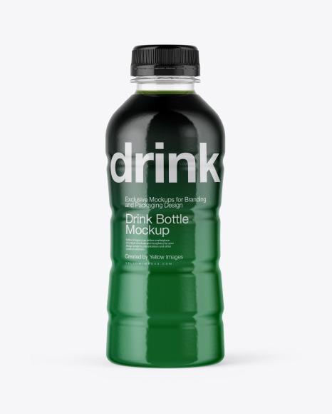 Clear Bottle in Shrink Sleeve Mockup