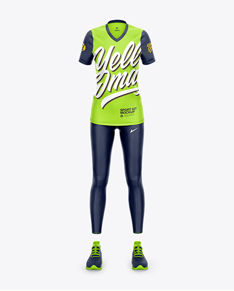 Women`s Sport Kit Mockup - Front View