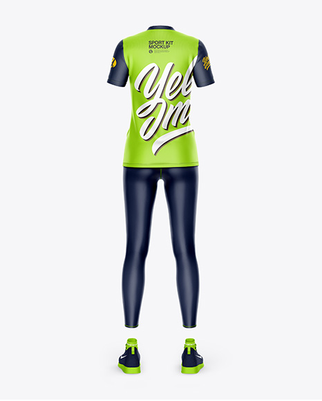 Women`s Sport Kit Mockup - Back View