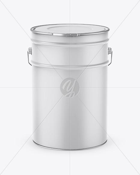 Download 5l Metallic Bucket Psd Mockup Yellow Images