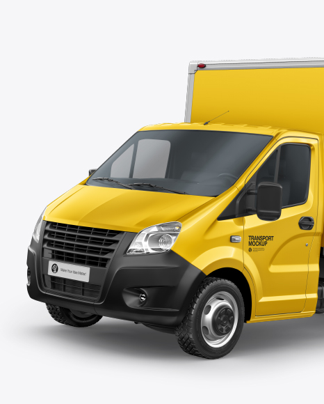 Download Box Truck Mockup - Left Half Side View - Free Magazine ...