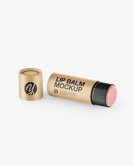 Download Metallic Lip Balm Tube Psd Mockup Yellowimages