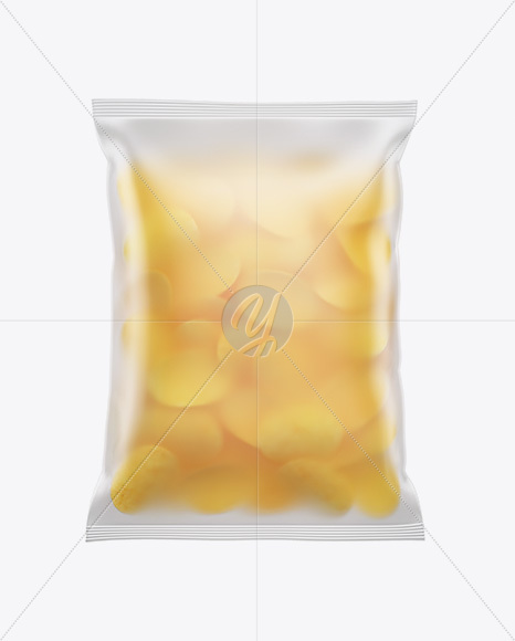 Download Bag With Potato Chips Psd Mockup Yellow Images