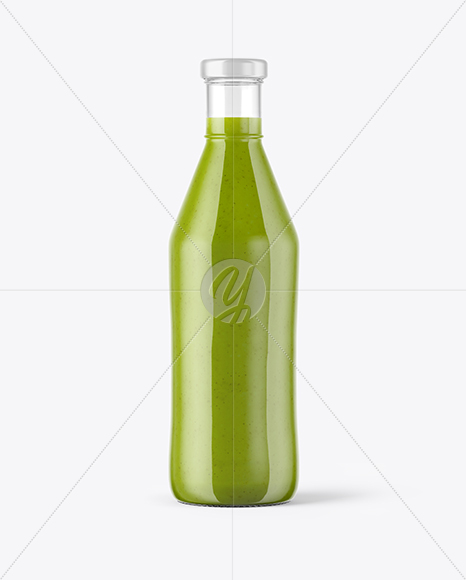 Download Square Green Smoothie Bottle Psd Mockup Yellowimages