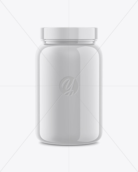 Download Plastic Protein Jar Psd Mockup Yellowimages