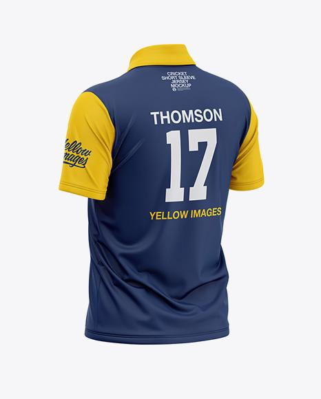 Download Free Men's Regular Short Sleeve Cricket Jersey / Polo V ...