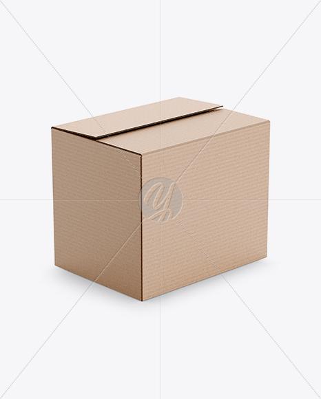 Download Kraft Big Box Mockup in Box Mockups on Yellow Images ...