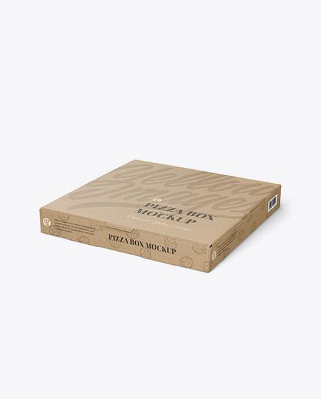kraft pizza box mockup