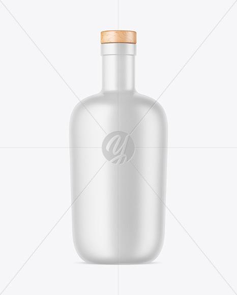 Download 1l Rose Wine Bottle Psd Mockup Yellow Images