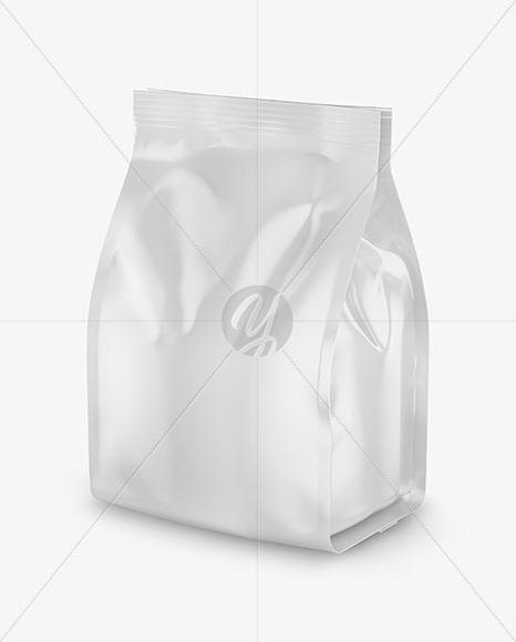 Download Glossy Food Bag Psd Mockup Halfside View Yellowimages
