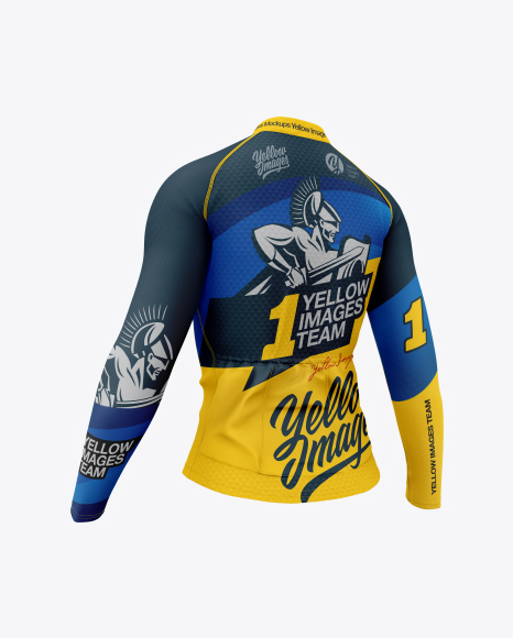 Download Free Women`s Cycling Jersey Mockup - Back Half Side View ...