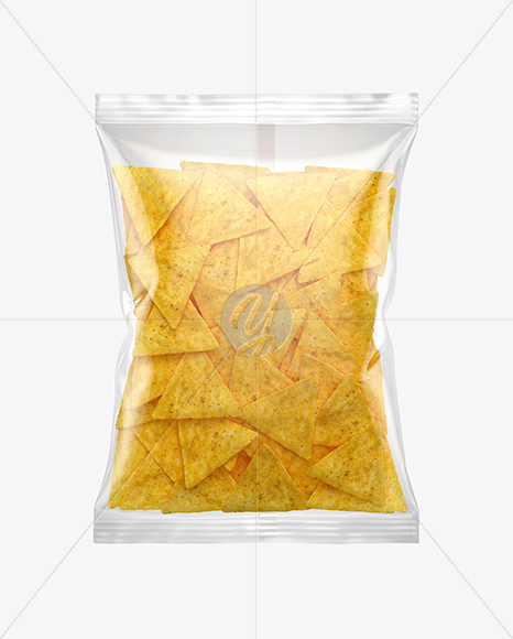 Download Matte Bag With Potato Chips Psd Mockup Yellow Images