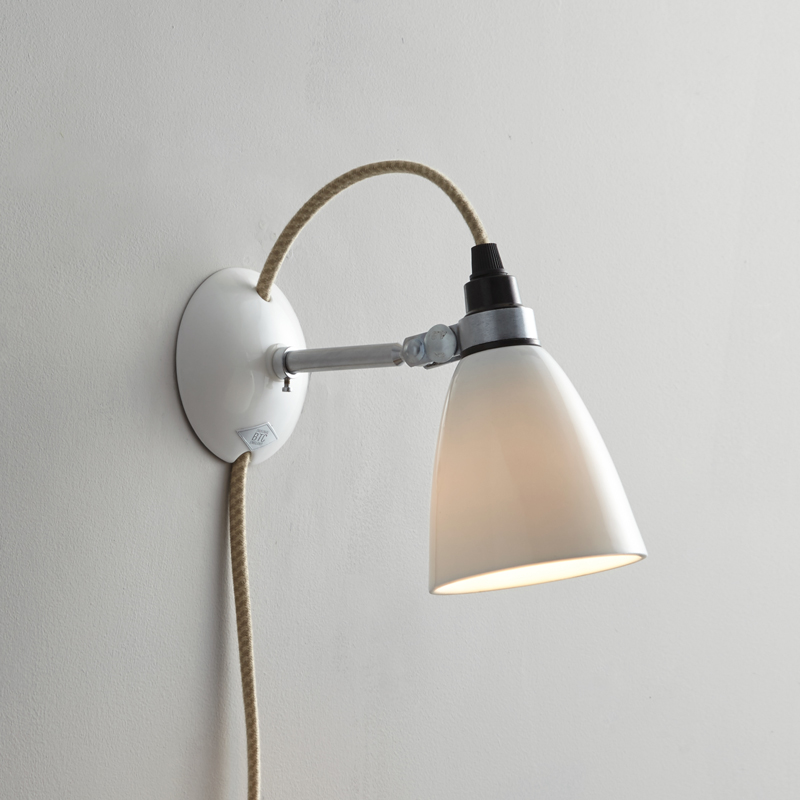 Hector Small Dome Plug Switch Cable Wall Light Buy Online Now At All Square Lighting