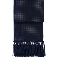 Cad & The Dandy | Silk Dress Scarf - Navy with White Spots ...