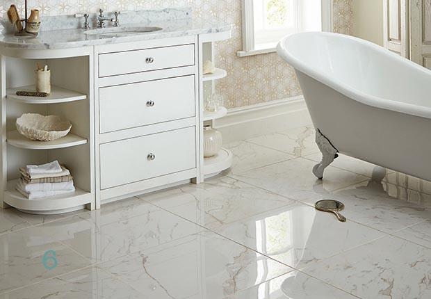 how to choose bathroom flooring | homebuilding & renovating