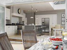 Grey Kitchen Diner. Impressive Kitchen Diner Lighting View ...