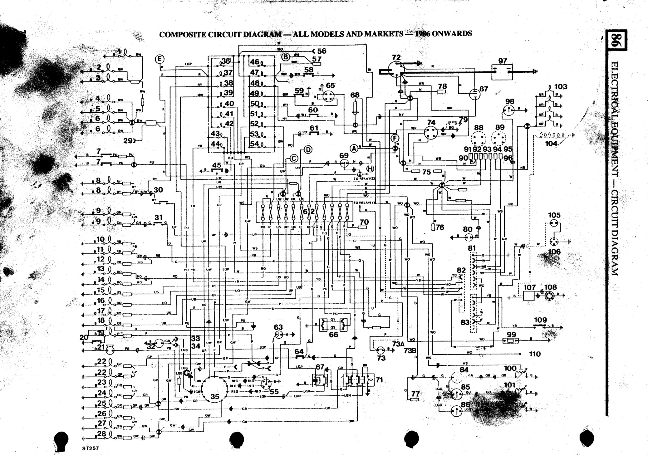 1985 land rover defender wiring diagram