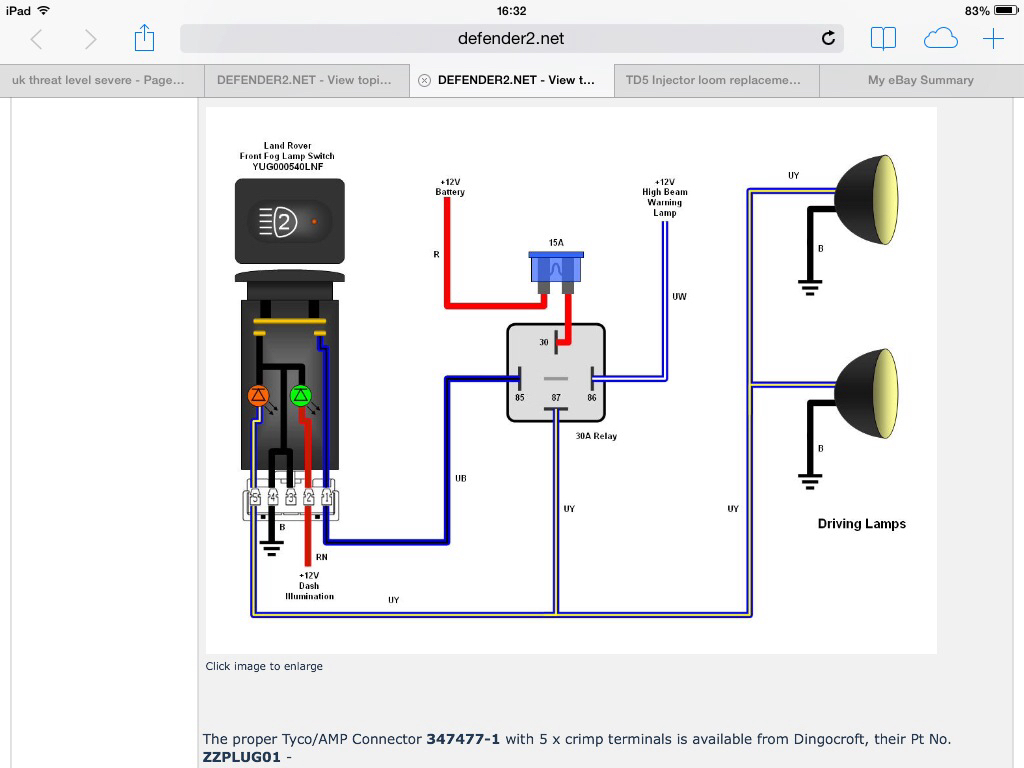 spotlight wiring diagram uk 1998 jeep cherokee diagrams pdf defender2 net view topic a favour spot light