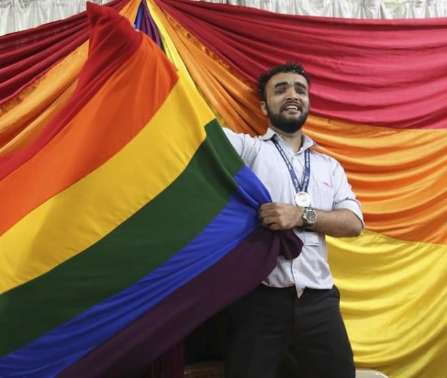 Equality A Gay Rights Activist Celebrates In Mumbai After The Colonial Era Law Was