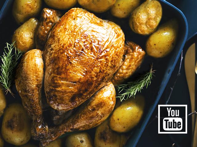 Fırında Patatesli Bütün Tavuk Tarifi