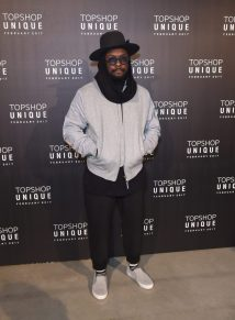 WILL.I.AM wears, Topman Jacket, £70 and Trousers, £38