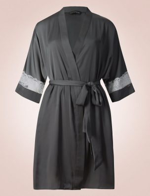 Satin lace dressing gown, £35, Rosie for Autograph, M&S