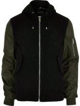 River Island Contrast sleeve bomber jacket, £65