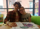 Bradley with Leah Mitchell, age 14 from Coventry