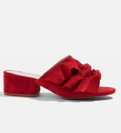 Darcy Ruffle Mules, Topshop (£29)