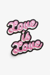 Embroidered LOVE patch, £8, Monki