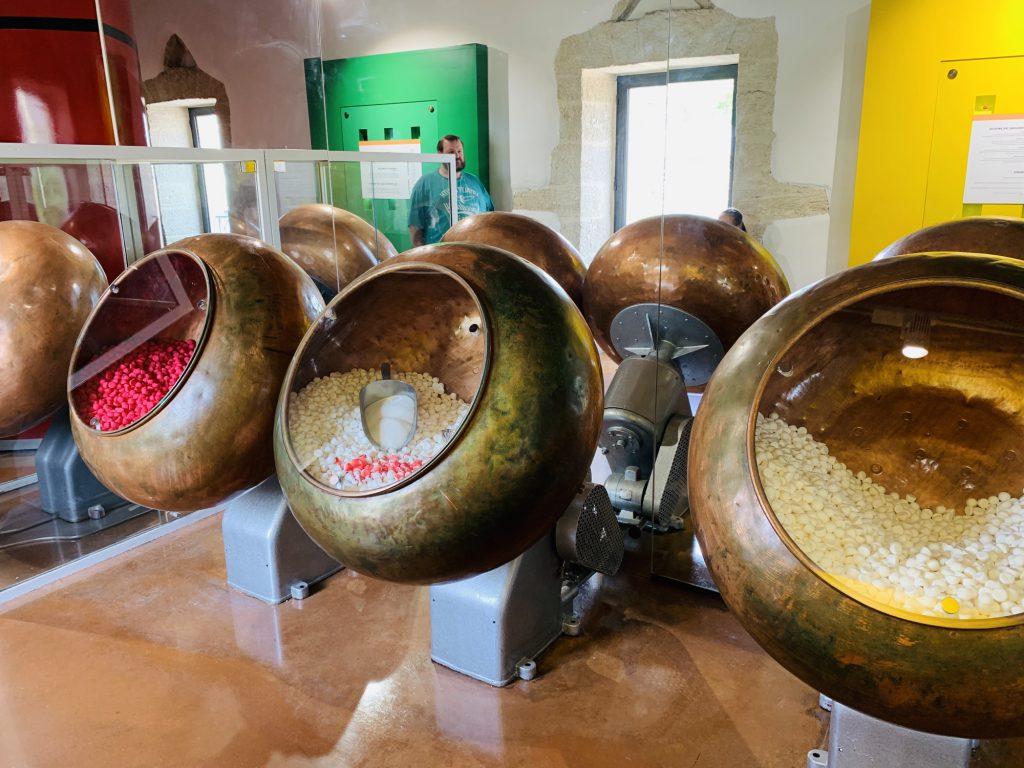 Mixing barrels at the Haribo Museum