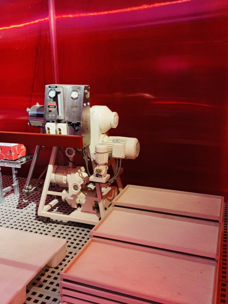 Factory equipment at the Haribo Museum