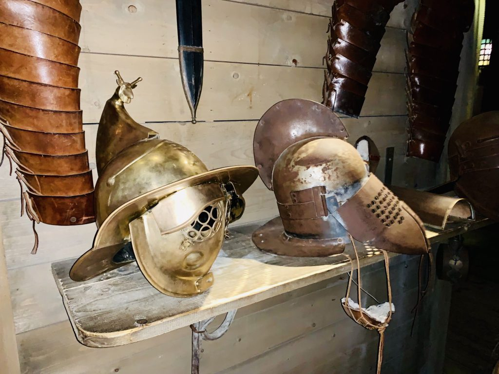 Gladiator clothes and weapons