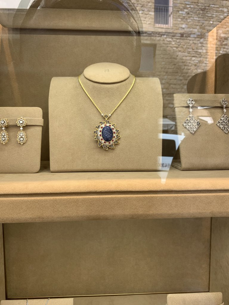 Jewellery in one of the shops