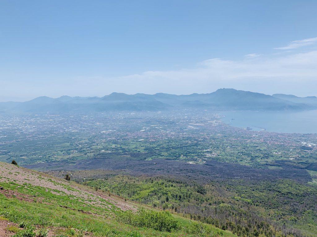 View of Pompeii from Mount Vesuvius