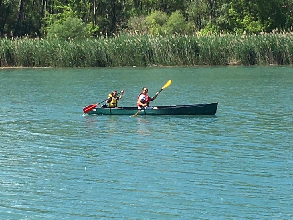 Canoeing at l'hippocamp campsite