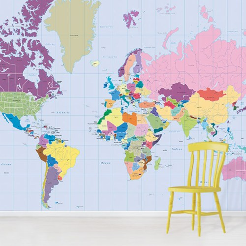 World Map Wallpaper • Wallpapered