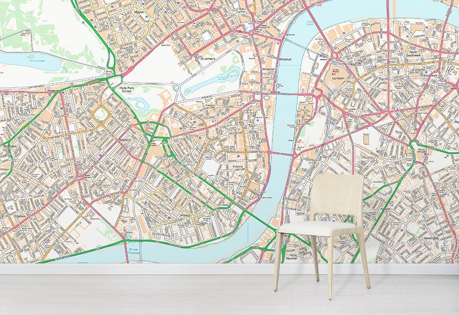 OS Street Map Classic Wallpaper