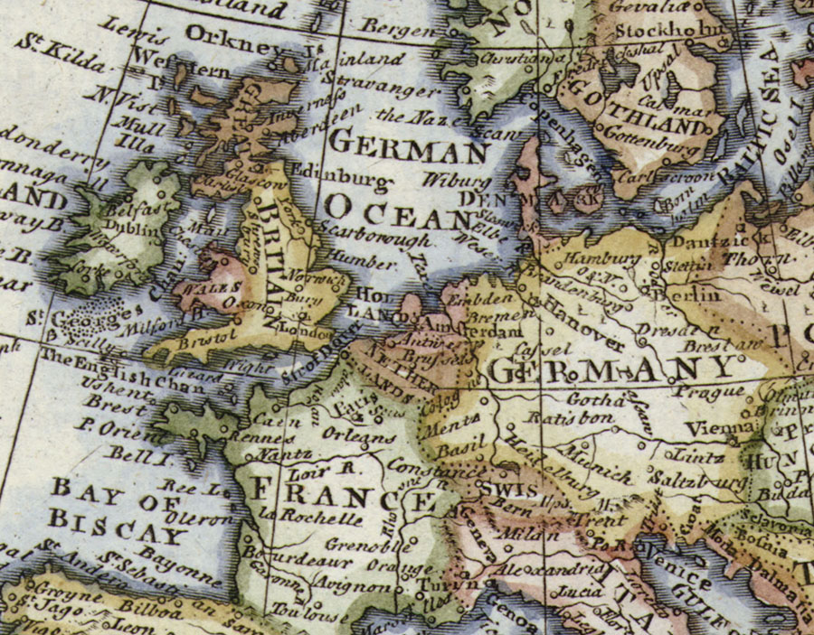 Historical Map Of Europe Wallpaper Mural detail view