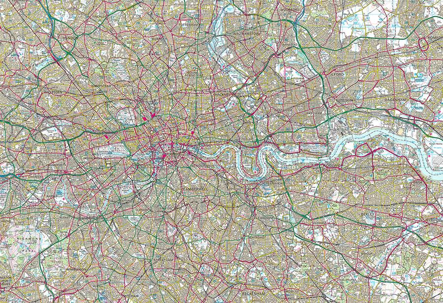 OS Landranger Classic Wallpaper Map