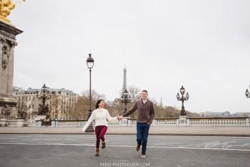 Lovestory в Париже. Фотограф. мост Александра 3.