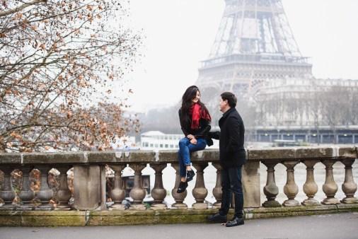 Фотограф в Париже. Эйфелева башня зимой