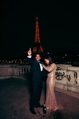 Ночная фотосессия в Париже. Эйфелефа башня