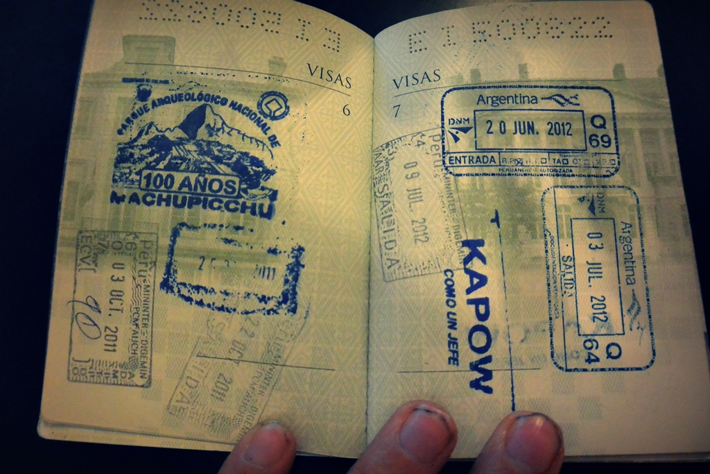 paspoort stempel