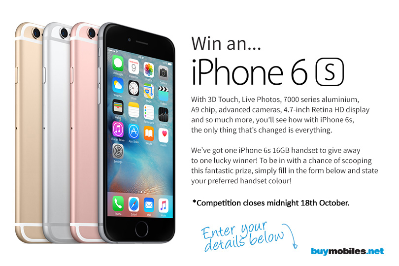 free iphone 6 giveaway win an apple iphone 6s smartphone color of choice 14146
