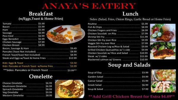 Anaya's Eatery Opening Times in Brampton, ON