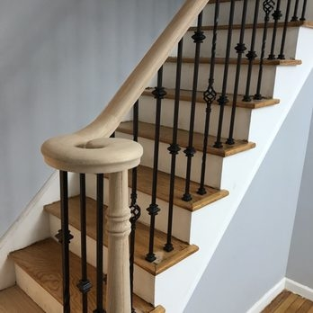 Art Stairs 13 Photos Contractors 79 27 Myrtle Ave Glendale | Staircase Builders Near Me | Deck | Baluster | Wrought Iron | Diy Staircase | Wood