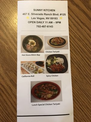 Sunny Kitchen Opening Times in Las Vegas, NV