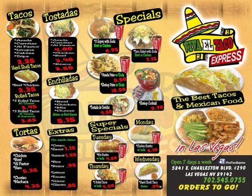 Viva El Taco Express Opening Times in Las Vegas, NV