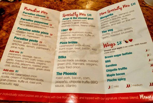 Paradise Valley Pizza Company Opening Times in Phoenix, AZ